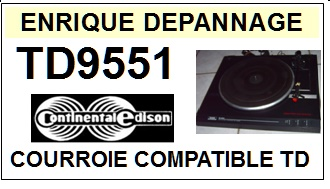CONTINENTAL EDISON-TD9551-COURROIES-ET-KITS-COURROIES-COMPATIBLES