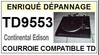 CONTINENTAL EDISON-TD9553-COURROIES-ET-KITS-COURROIES-COMPATIBLES
