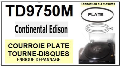 CONTINENTAL EDISON-TD9750M TD-9750M-COURROIES-ET-KITS-COURROIES-COMPATIBLES