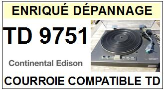 CONTINENTAL EDISON-TD9751-COURROIES-ET-KITS-COURROIES-COMPATIBLES