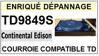 CONTINENTAL EDISON-TD9849S-COURROIES-ET-KITS-COURROIES-COMPATIBLES