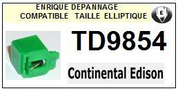 CONTINENTAL EDISON<br> TD9854 (2°montage) pointe elliptique pour tourne-disques <BR><small>se(1+2) 2015-08</small>