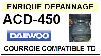 DAEWOO-ACD450 ACD-450RC-COURROIES-ET-KITS-COURROIES-COMPATIBLES