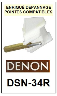 DENON-DSN34R DSN-34R-POINTES-DE-LECTURE-DIAMANTS-SAPHIRS-COMPATIBLES