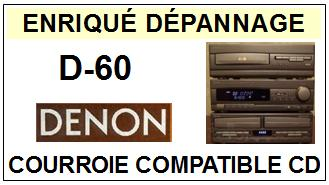 DENON-D60 D-60-COURROIES-ET-KITS-COURROIES-COMPATIBLES