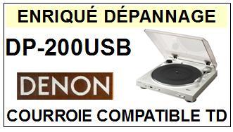 DENON-DP200USB DP-200 USB-COURROIES-ET-KITS-COURROIES-COMPATIBLES