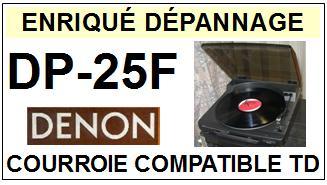 DENON-DP25F DP-25F-COURROIES-ET-KITS-COURROIES-COMPATIBLES