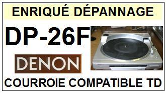 DENON-DP26F DP-26F-COURROIES-ET-KITS-COURROIES-COMPATIBLES