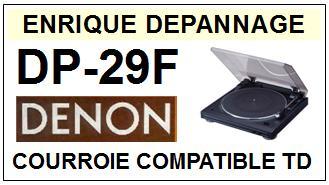 DENON-DP29F DP-29F-COURROIES-ET-KITS-COURROIES-COMPATIBLES