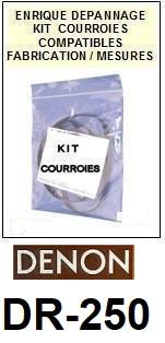 DENON-DR250 DR-250-COURROIES-ET-KITS-COURROIES-COMPATIBLES