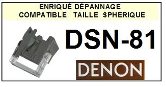 DENON DSN81 DSN-81 <br>Pointe Diamant sphérique (stylus)<small> 2015-10</small>