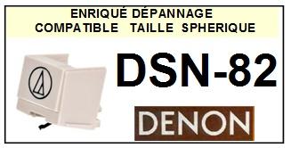 DENON DSN82 DSN-82 <br>Pointe Diamant sphérique (stylus)<small> 2015-10</small>