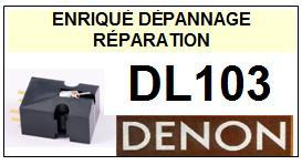 DENON CELLULE  DL103    Réparation : échange cantilever alu et pose  Diamant Elliptique