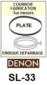 DENON-SL33 SL-33-COURROIES-ET-KITS-COURROIES-COMPATIBLES
