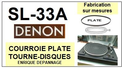 DENON-SL33A SL-33A-COURROIES-ET-KITS-COURROIES-COMPATIBLES