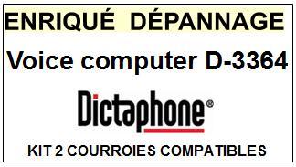 DICTAPHONE-D3364 VOICE COMPUTER  VOICE PROCESSOR D--COURROIES-ET-KITS-COURROIES-COMPATIBLES