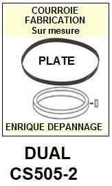 DUAL-CS505-2-COURROIES-ET-KITS-COURROIES-COMPATIBLES