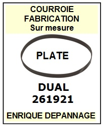 DUAL 261921  <br>courroie plate référence dual (flat belt manufacturer number)<small> 2015-12</small>