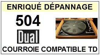 DUAL-504-COURROIES-ET-KITS-COURROIES-COMPATIBLES