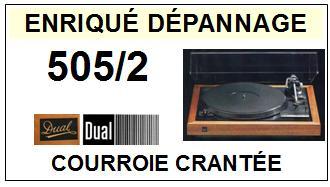 DUAL-505/2 DENTEE PITCH 505-2-COURROIES-ET-KITS-COURROIES-COMPATIBLES