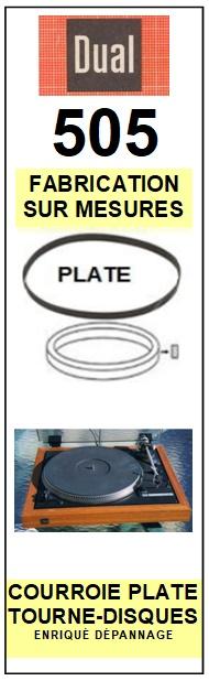 DUAL-505-COURROIES-ET-KITS-COURROIES-COMPATIBLES