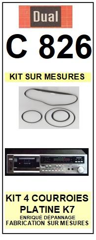 DUAL-C826-COURROIES-ET-KITS-COURROIES-COMPATIBLES