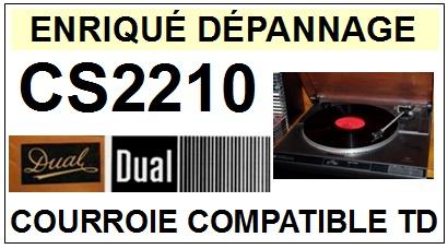 DUAL-DUAL CS2210  Courroie plate d'entraineme-COURROIES-ET-KITS-COURROIES-COMPATIBLES