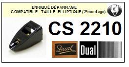 DUAL-CS2210. CS-2210 (2°MONTAGE)-POINTES-DE-LECTURE-DIAMANTS-SAPHIRS-COMPATIBLES