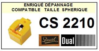 DUAL CS2210 (1°montage) <br>Pointe sphérique pour tourne-disques  (stylus)<small> 2015-12</small>