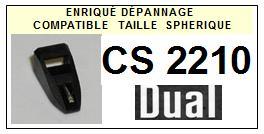DUAL<br> CS2210 (2° montage) Pointe (stylus) sphérique pour tourne-disques<small> 2015-09</small>