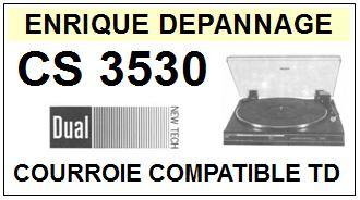 DUAL-CS3530-COURROIES-ET-KITS-COURROIES-COMPATIBLES