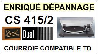 DUAL-CS415/2-COURROIES-ET-KITS-COURROIES-COMPATIBLES