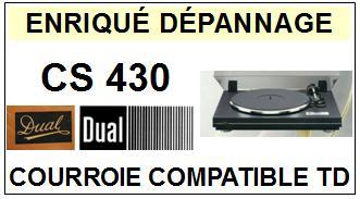 DUAL-CS430-COURROIES-ET-KITS-COURROIES-COMPATIBLES