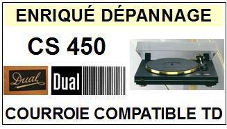 DUAL-CS450-COURROIES-ET-KITS-COURROIES-COMPATIBLES