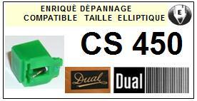 DUAL CS450 <br>Pointe elliptique pour tourne-disques (stylus)<small> 2015-11</small>