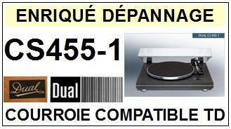 DUAL-CS455/1 CS455-1-COURROIES-ET-KITS-COURROIES-COMPATIBLES