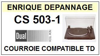 DUAL-CS503-1 CS503/1-COURROIES-ET-KITS-COURROIES-COMPATIBLES