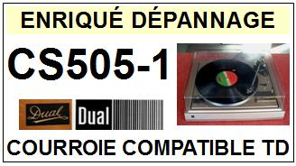 DUAL-CS505-1-COURROIES-ET-KITS-COURROIES-COMPATIBLES