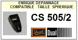 DUAL Platine CS505/2 Pointe diamant sphérique <BR><small>sce+crant 2014-02</small>
