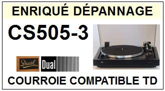 DUAL-CS505/3 CS505-3-COURROIES-ET-KITS-COURROIES-COMPATIBLES