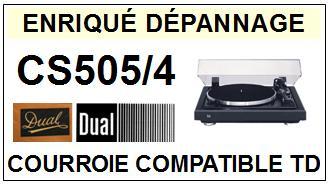DUAL-CS505/4-COURROIES-ET-KITS-COURROIES-COMPATIBLES