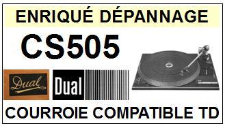 DUAL-CS505-COURROIES-ET-KITS-COURROIES-COMPATIBLES