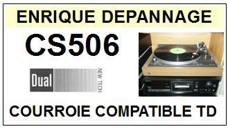DUAL-CS506-COURROIES-ET-KITS-COURROIES-COMPATIBLES