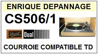 DUAL-CS506/1-COURROIES-ET-KITS-COURROIES-COMPATIBLES
