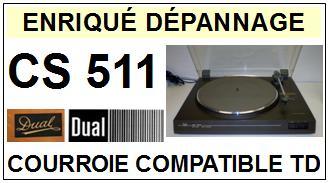 DUAL-CS511-COURROIES-ET-KITS-COURROIES-COMPATIBLES
