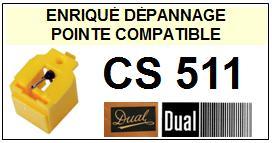 DUAL CS511 <br>Pointe sphérique pour tourne-disques (<b>sphérical stylus</b>)<small> 2016-01</small>