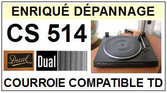 DUAL-CS514-COURROIES-ET-KITS-COURROIES-COMPATIBLES