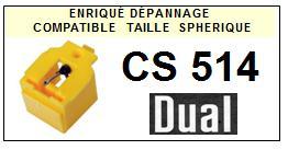DUAL<br> CS514 Pointe (stylus) diamant sphérique pour tournes-disques<small> 2015-09</small>