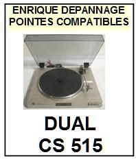 DUAL CS515  <bR>Pointe elliptique pour tourne-disques (<b>elliptical stylus</b>)<SMALL> 2017-02</small>