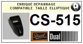 DUAL CS515 <br>Pointe elliptique pour tourne-disques (<b>elliptical stylus</b>)<small> 2016-01</small>